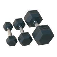 Комплект гантелей гексагональных,обрезиненных 12,5кг - 20кг (72014/12,5-20)