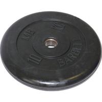 Диск обрезиненный черный BARBELL 10 кг., d26мм