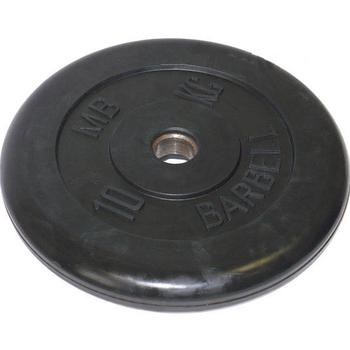 Диск обрезиненный черный BARBELL 10 кг., d26мм  - фото 1