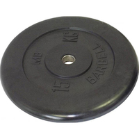 Диск обрезиненный черный BARBELL 15 кг., d26мм