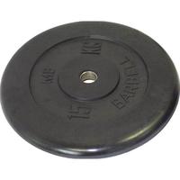 Диск обрезиненный черный BARBELL 15 кг., d31мм