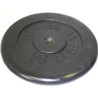 Диск обрезиненный черный BARBELL 20 кг., d26мм
