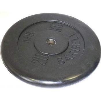 Диск обрезиненный черный BARBELL 20 кг., d26мм  - фото 1