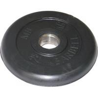 Диск обрезиненный черный BARBELL 2.5 кг., d26мм