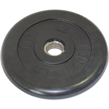 Диск обрезиненный черный BARBELL 5 кг., d26мм  - фото 1