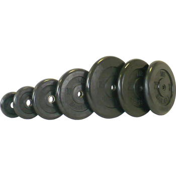 Диск обрезиненный черный BARBELL 1.25 кг., d26мм  - фото 1
