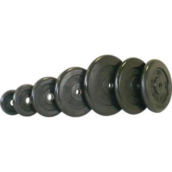 Диск обрезиненный черный BARBELL 1 кг., d31мм  - фото 1