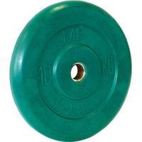 Диск обрезиненный цветной BARBELL 10 кг., d26мм