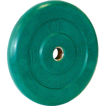 Диск обрезиненный цветной BARBELL 10 кг., d26мм  - фото 1