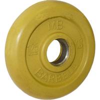 Диск обрезиненный цветной BARBELL 1,25 кг., d26мм