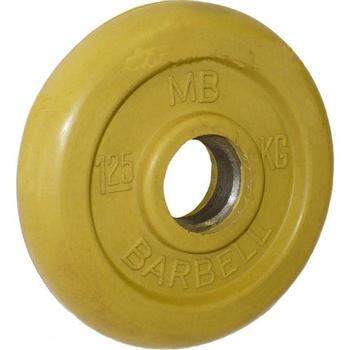 Диск обрезиненный цветной BARBELL 1,25 кг., d26мм  - фото 1