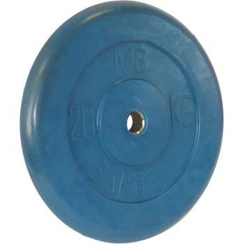 Диск обрезиненный цветной BARBELL 20 кг., d26мм  - фото 1