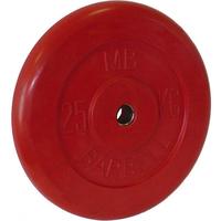 Диск обрезиненный цветной BARBELL 25 кг., d26мм