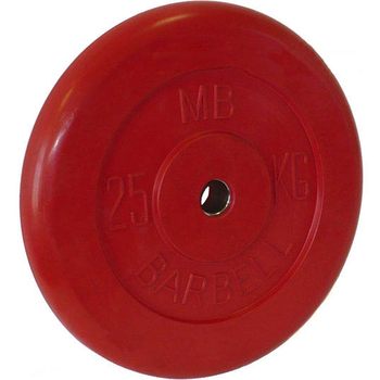 Диск обрезиненный цветной BARBELL 25 кг., d26мм  - фото 1
