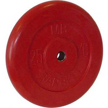 Диск обрезиненный цветной BARBELL 25 кг., d31мм  - фото 1