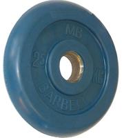 Диск обрезиненный цветной BARBELL 2,5 кг., d26мм