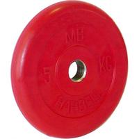 Диск обрезиненный цветной BARBELL 5 кг., d26мм