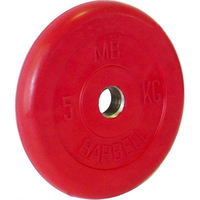 Диск обрезиненный цветной BARBELL 5 кг., d31мм