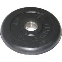 Диск обрезиненный черный BARBELL 25 кг., d26мм