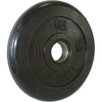 Диск обрезиненный черный BARBELL 10 кг., d51мм