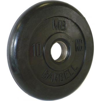Диск обрезиненный черный BARBELL 10 кг., d51мм  - фото 1