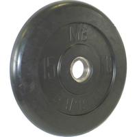 Диск обрезиненный черный BARBELL 15 кг., d51мм