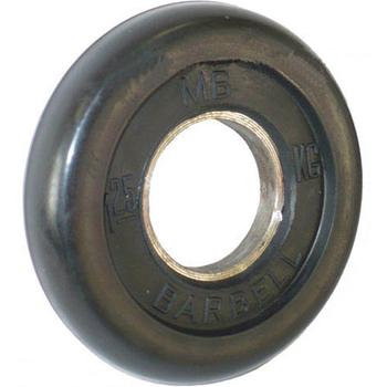 Диск обрезиненный черный BARBELL 1,25 кг., d51мм  - фото 1