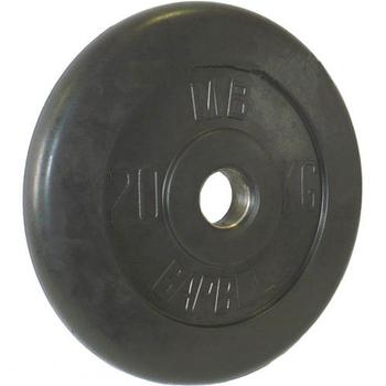 Диск обрезиненный черный BARBELL 20 кг., d51мм  - фото 1