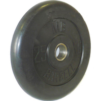 Диск обрезиненный черный BARBELL 25 кг., d51мм