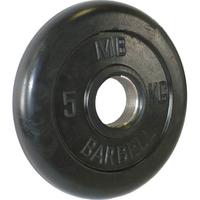 Диск обрезиненный черный BARBELL 5 кг., d51мм