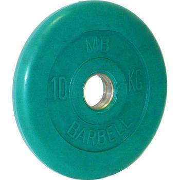 Диск обрезиненный цветной BARBELL 10 кг., d51мм  - фото 1