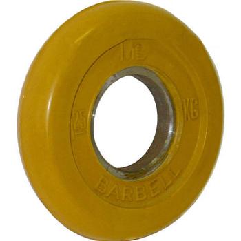 Диск обрезиненный цветной BARBELL 1,25 кг., d51мм  - фото 1