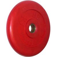 Диск обрезиненный цветной BARBELL 25 кг., d51мм