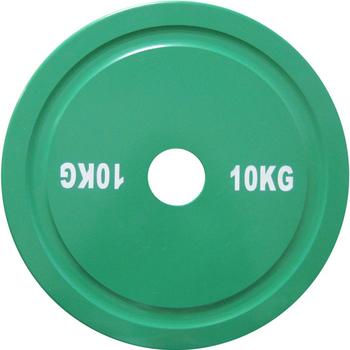 Диск стальной 10 кг зеленый DHS для пауэрлифтинга  - фото 1