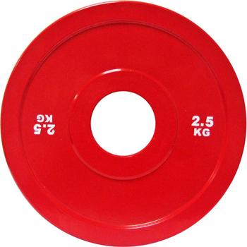 Диск стальной 2,5 кг красный DHS для пауэрлифтинга  - фото 1