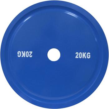 Диск стальной для пауэрлифтинга DHS, 20 кг.,синий  - фото 1