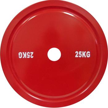 Диск стальной 25 кг красный  для пауэрлифтинга  - фото 1