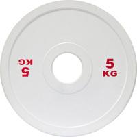 Диск стальной 5 кг белый DHS для пауэрлифтинга