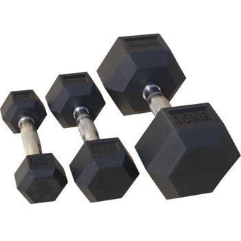 Гантель гексагональная, обрезиненная 15 кг. (72014-15) - фото 1