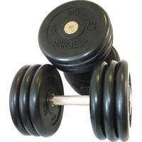 Гантель фиксированная MB «Проф» 36 кг. цвет черный