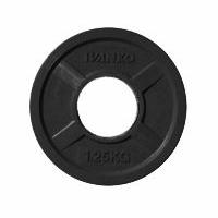 Диск JOHNS 1,25кг черный обрезиненный, d51мм.  (71022-1,25В)