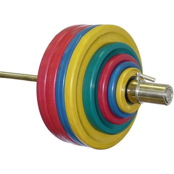 Штанга пауэрлифтинга 432,5 кг (МВ) цветная  - фото 1