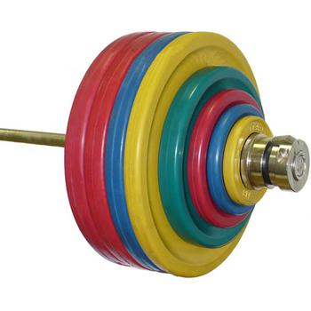 Штанга рекордная олимпийская 232,5 кг (МВ) цветная  - фото 1
