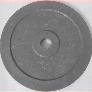 Диск технический 5 кг., красный, серый (d 450 мм)  - фото 1