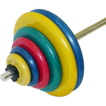 Штанга тренировочная 117,5 кг (МВ) цветная  - фото 1