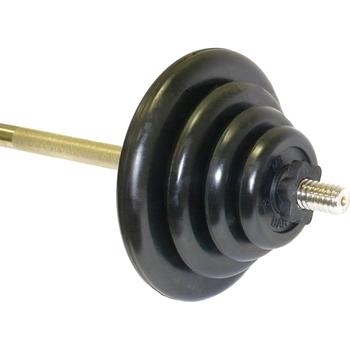Штанга тренировочная 75,5 кг (МВ) черная  - фото 1