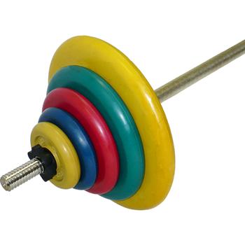 Штанга тренировочная 75,5 кг (МВ) цветная  - фото 1