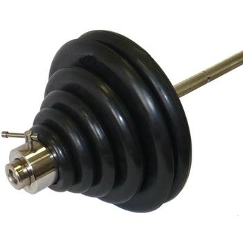 Штанга тренировочная 125,5 кг (МВ) черная  - фото 1