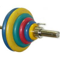 Штанга тренировочная 125,5 кг (МВ) цветная