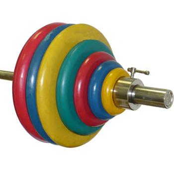 Штанга тренировочная 178,5 кг (МВ) цветная  - фото 1